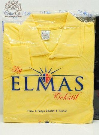 Классическая Рубашка-Поло с длинным рукавом оптом 100% Cotton (7-8-9) ELMAS