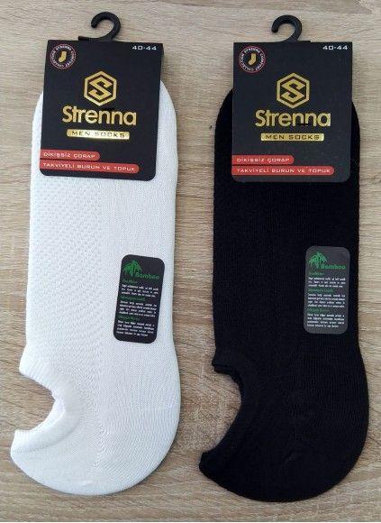 Бамбуковые Короткие Мужские Носки 12 шт/уп с запахом парфюма - Strenna
