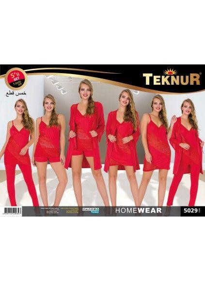 Комплект с Халатом 5 предметов (Безразмерка) Teknur
