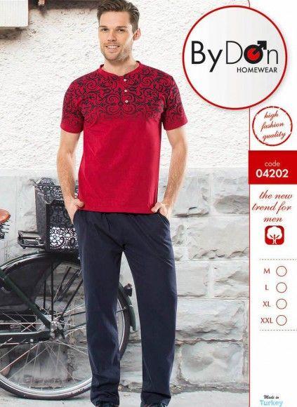 Мужская Пижама Комплект с брюками (M+L+XL) ByDon 2019