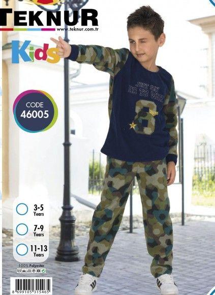 Детская Пижама для Мальчика Wellsoft Polar (3/5+7/9+11/13) TEKNUR 2020