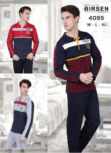 Мужской Комплект с брюками 9 шт. в уп., 3 цвета (M+L+XL) BIRSEN