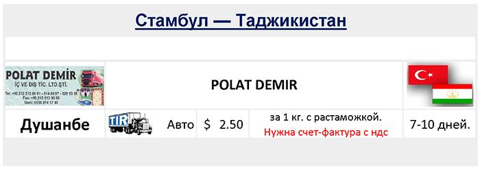 Грузоперевозки в Таджикистан - доставка и перевозка грузов в Душанбе  Республики Таджикистан